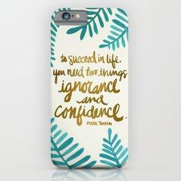 Ignorance & Confidence #1 iPhone Case