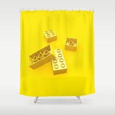 Duplo Yellow Shower Curtain