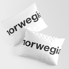 NORWEGIAN Hashtag Pillow Sham
