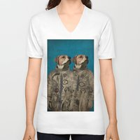 outer space V-neck T-shirts featuring Journey into outer space by Durro