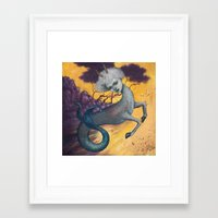 capricorn Framed Art Prints featuring Capricorn by Artist Andrea