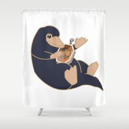 Salazar's Locket Niffler Shower Curtain