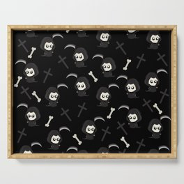 Cute Grim Reaper Pattern Serving Tray