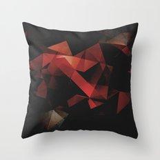 Orange Grunge Geometric Abstract Throw Pillow