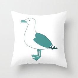 Follow the gull Throw Pillow