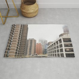 new york city in the clouds Rug