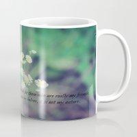 jane austen Mugs featuring Friends Jane Austen by KimberosePhotography