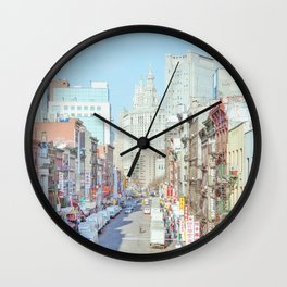 Chinatown - New York Travel Photography Wall Clock