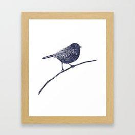A peaceful bird Framed Art Print