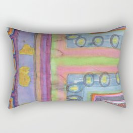 Strolling in a colorful city Rectangular Pillow