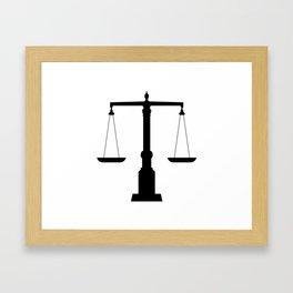 weight scale Framed Art Print