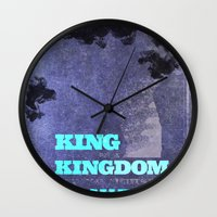 lebron Wall Clocks featuring King James by xyzdsn
