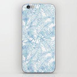 Fern Silhouette Blue iPhone Skin
