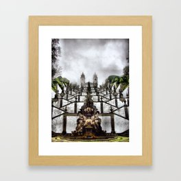 The Baroque staircase of Bom Jesus in Braga, Portugal Framed Art Print