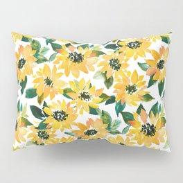 SUNFLOWER POWER Yellow Floral Pillow Sham