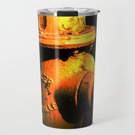 Fire Hydrant Orange and Black Art - Hot - Sharon Cummings Travel Mug