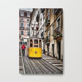 Ascensor da Bica, Lisbon, Portugal 2 Metal Print