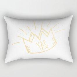 YAS QUEEN (gold) Rectangular Pillow