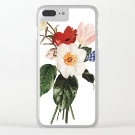 Spring Flowers Bouquet Clear iPhone Case