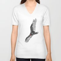 turkey V-neck T-shirts featuring Turkey Vulture by K J Guindon