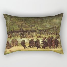 William Holbrook Beard - The Bear Dance Rectangular Pillow