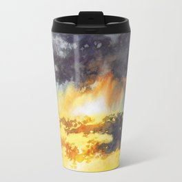 Watercolor Sky No 5 - colorful rain clouds Travel Mug