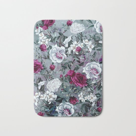 Botanical Flowers Bath Mat