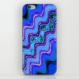 Blue Tranquil Waves iPhone Skin