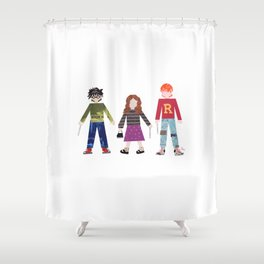 Harry, Hermione, and Ron Shower Curtain