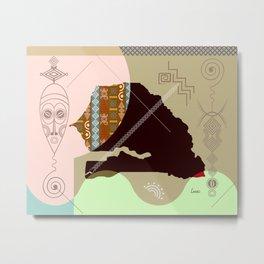 Senegal Stylized Metal Print