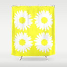 Yellow Daisy Bouquet Shower Curtain