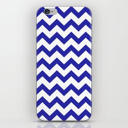 Chevron (Navy & White Pattern) iPhone Skin