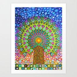 Mandala Tree of Life Art Print