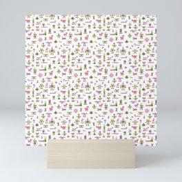 Robots-Pink Mini Art Print