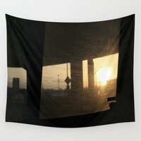 portland Wall Tapestries featuring Portland  by PIAH