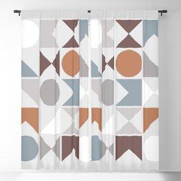 Mid Century Modern Geometric 19 Blackout Curtain