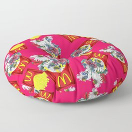 Botanical Mcdonalds Sweet-Rose Floor Pillow
