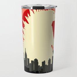 """May Godzilla destroy this home last"" Classic Movie Poster Travel Mug"