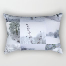 Winter mosaic Rectangular Pillow
