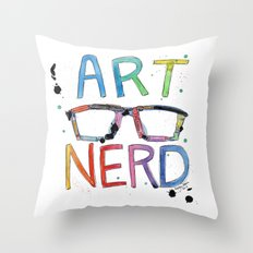 ART NERD Throw Pillow