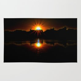 Sunset on The Wisconsin river Rug