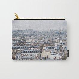 Snowy Paris Carry-All Pouch