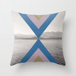 Boho Arrows of Lake Wanaka Throw Pillow