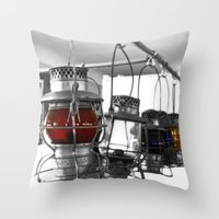 lanterns Throw Pillows featuring Lanterns by Raymond Earley