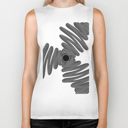 Wired in Black and White Biker Tank