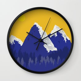 The Mountain Within Wall Clock