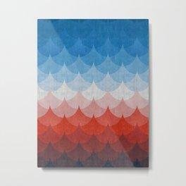 Colorful minimalist waves I Metal Print