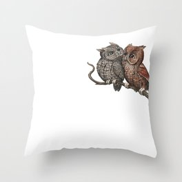 Eastern Screech Owl (Megascops asio) Throw Pillow