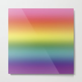 Pride Rainbow Flag Gradient Metal Print