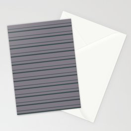 Night Watch PPG1145-7 Horizontal Stripes Pattern 3 on Magic Dust Muted Purple PPG13-24 Stationery Cards